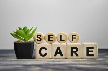 Block stating Self Care